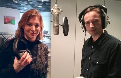 Lenka a Jaroslav in Talents Room studio